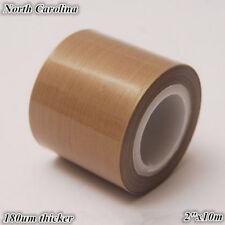 "PTFE Teflon Tape adhesive 2""x33ft 180um thicker 662℉ high-temp Fiberglass US"