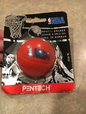 Pentech NBA Pencil Eraser 1997 NEW! Package opened please read!