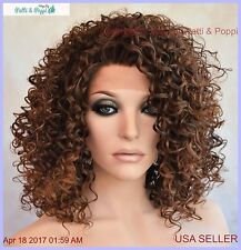 LACE FRONT JERRY CURLS WIG COLOR T4.30 SASSY SEXY HOT STYLE USA SELLER