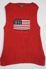 Polo żTiene suéter sudadera Sweater señora estados unidos Flag vintage Ralph Lauren M