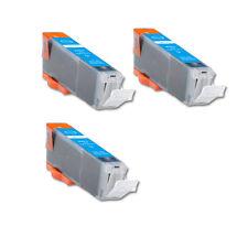 3 CYAN Ink Cartridge w/ CHIP fits Canon CLI-251XL MG5520 MX722 MX922 MG7120