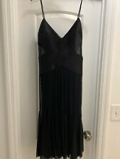Cache Black Mesh Cocktail Dress NWT size 12