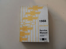 Chevrolet Spectrum 1988 Workshop Service manual Werkstatthandbuch