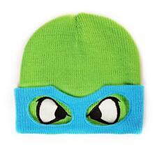 TEENAGE MUTANT NINJA TURTLES TMNT Leo Face & Mask Cuffless Beanie Green/Blue
