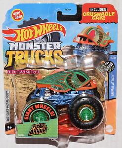 Hot Wheels 2020 Monster Lkws Riesig Räder Tier- Angriff Piran-Ahhhh