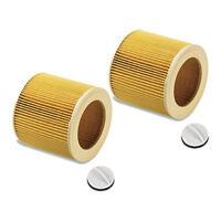 2x Patronen-Filter für Kärcher SE 4002, WD 2.200, WD 3.200, WD 3.300 M WD2 WD3