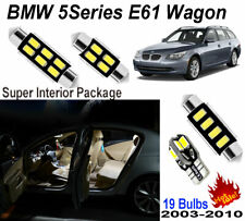 19pcs White LED Interior Light Kit BMW 5 Series E61 Touring Wagon Panoramic Roof
