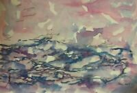Original Seascape 9x12 watercolor Hand Painting and Signed
