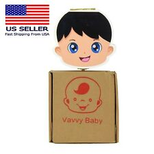 VAVVY BABY Tooth Box for baby milk teeth -Tooth Fairy Box- Baby Boy Brunette