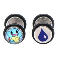 Official Pokemon Squirtle Character Fake Plug Stud Earrings Set - Pokemon Go