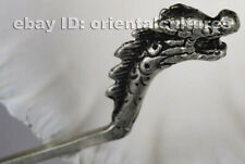 Tribal exotic chinese handmade miao silver dragon hairpin