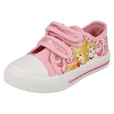 niña princesa Disney Correa Doble Informal Rosa Zapatillas De Lona