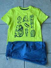 Size 7 years outfit Gymboree,2 pc. set,jean shorts,T-shirt,NWT