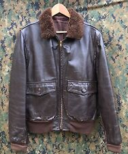 G1 Navy Made in USA San Diego Leather Factory Flight Jacket 100%AUTHENTIC 42