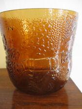 ARABIA NUUTAVJARVI FINLAND ART GLASS FAUNA OIVA TOIKKA Ice Bucket Bowl Vase!