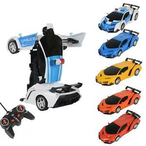 Remote Control Car Transformer Radio Transformer Vehicle Deform Robot Kid Toy UK