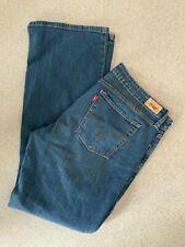 Levis Women's 545 Low Boot Cut Stretch  Blue Jeans Size Uk 14 Medium
