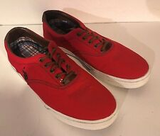 US Polo Association  Red Canvas Shoes w/ Blue Pony Men's Size 10.5