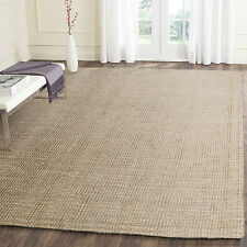 ROMAN NATURAL CHUNKY JUTE FIBRE NEW FLOOR RUG (L) 180x270cm **FREE DELIVERY**