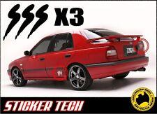 3x SSS N14 PULSAR OEM EPOXY RESIN BADGE STICKER DECAL TO SUIT NISSAN PULSAR SR20