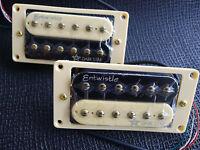 Pair Zebra Entwistle Dark Star Guitar Humbucker Pickups---15.8k High Output New
