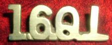 SHOULDER TITLES-SCARCE PRE 16th LANCERS CAST IN LADYSMITH 1900 '16QL'