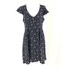 Denim & Supply Ralph Lauren Mini Dress Floral Cap Sleeve Navy Blue Size 8