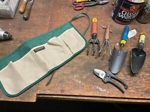Fiskars - Pocket - Tie Waist Garden Apron - lot of garden tools