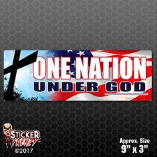 One Nation Under GOD Car Truck Bumper Sticker Decal Religion Jesus Christ #FE602