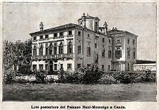 CANDA: Villa Nani Mocenigo.. Polesine. Rovigo. Veneto. Stampa Antica. 1897