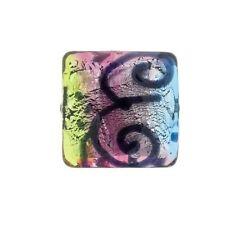 PI19 Venetian/Italian Beads  Picasso Square Bead 12mm PK1 **UK EBAY SHOP**
