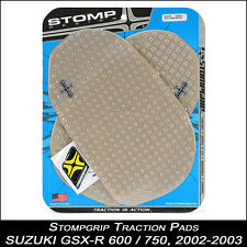 STOMPGRIP Pads de tracción, SUZUKI GSX-R 600/750 ,02-03, transparente,