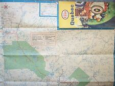 1957 QUEBEC MAP  IMPERIAL ESSO DEALER  Partie Occidentale Quebec Western Part