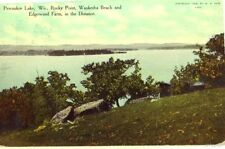 PEWAUKEE LAKE, WI ROCKY POINT WAUKESHA BEACH 1912