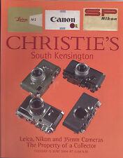 CHRISTIE'S Leica Nikon 35mm Canon Camera Lenses Accessories Auction Catalog 2004
