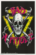 Poster: Fantasy : Bad Attitude - Skull - Blacklight & Flocked #Fl3283S Lp44 E