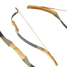 """30-45lbs 50"""" Right Hand Recurve Bow Archey Longbow Traditional Outdoor Hunting"""