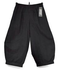 STUNNING OVERSIZED LINEN BALLOON HAREM TROUSERS/PANTS*BLACK*AKH GERMANY Size XL