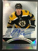2017-18 UD Premier Rookie Auto Jakob Forsbacka-Karlsson Boston Bruins