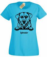 Womens Labrador T-Shirt dog lover gift present ladies Top Retriever