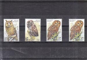 BELGIUM 1999  OWLS SET MNH VF