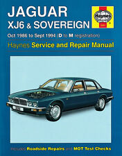 Jaguar Xj6 & Sovereign 1986 to 1994 Haynes Workshop Manual 3261 VGC