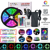 10/15M 600/900LEDs 2835RGB Flexible LED Strip Light 24-Key Remote&APP Control