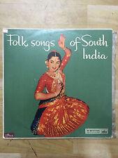 FOLK SONGS SOUTH INDIA tamil kannada telugu malayalam RARE LP record EX