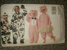Child  Costume   Pattern     size  4  to  14     Cow   Pig   Jumpsuit
