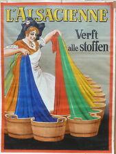 """seltenes Orig.-Werbeplakat """"L'Alsacienne"""", sign. - Dorfi, um 1930, 120 x 160 cm"""