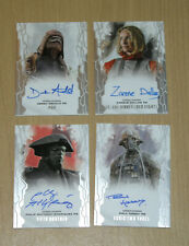 2017 Topps Star Wars Masterwork 4-card autograph auto lot