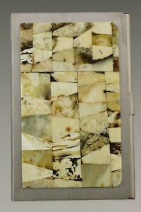 Genuine White BALTIC AMBER Mosaic Credit/Business Card CASE Holder 181002-4