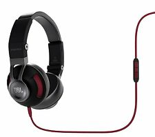 JBL Synchros S300i On-Ear Headphones w/ Apple In-line Mic & Controls (Black/Red)