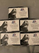 2004-2008 United States 50 State Quarters Silver Proof Set Box & COA